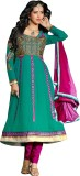 Traditional 2 Trendy Georgette Self Desi...