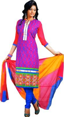 Raasi Fabrics Cotton Linen Blend Embroidered Salwar Suit Dupatta Material