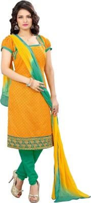 Styles Closet Cotton Printed Semi-stitched Salwar Suit Material