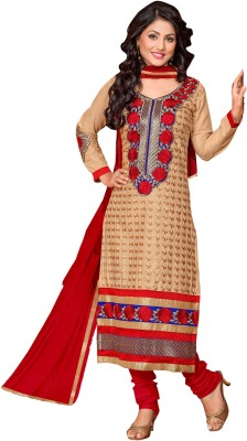 Fashion4masti Cotton Embroidered Semi-stitched Salwar Suit Dupatta Material