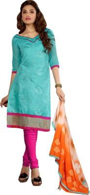 Khantil Chanderi Embroidered Salwar Suit Dupatta Material