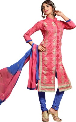 Ganga Fashion Chanderi, Cotton Embroidered Salwar Suit Dupatta Material