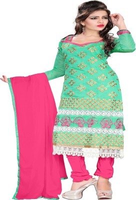 Krizel Trendz Chanderi Self Design Dress/Top Material