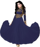 Icon Fashion Georgette Embroidered Dress...