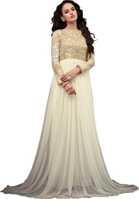 gopi Net Embroidered Semi-stitched Salwar Suit Material