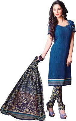 Zombom Crepe Printed Salwar Suit Dupatta Material