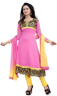 Lunawat Synthetics Georgette Embroidered Salwar Suit Dupatta Material