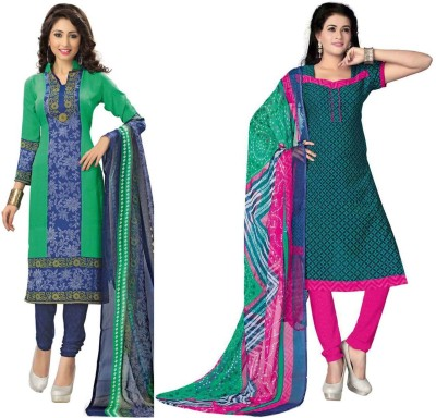 Sonal Dress Crepe Printed Salwar Suit Dupatta Material, Salwar Suit Material, Dress/Top Material