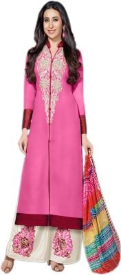 Suitevilla Chiffon Embroidered Semi-stitched Salwar Suit Dupatta Material