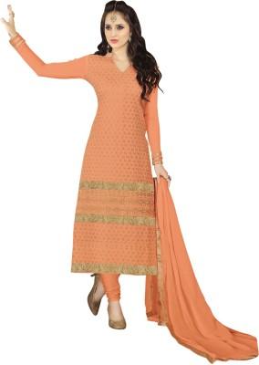 Vastrani Crepe Embroidered Salwar Suit Dupatta Material