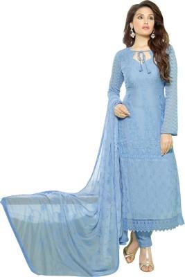 Fabfirki Fashion Hub Chiffon Embroidered Semi-stitched Salwar Suit Dupatta Material