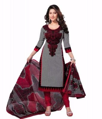 Merito Cotton Printed, Floral Print Suit Fabric, Kurta & Churidar Material, Salwar Suit Material, Dress/Top Material, Salwar Suit Dupatta Material(Un-stitched)