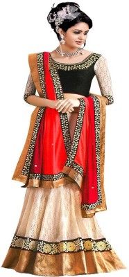 Aahira Net Self Design Lehenga Choli Material