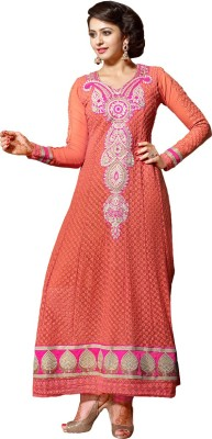 Vaamsi Georgette Embroidered Dress/Top Material