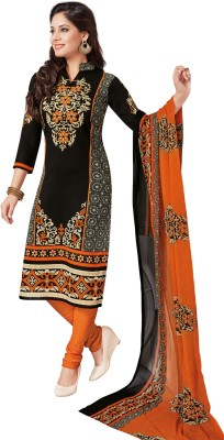 Salwar Studio Synthetic Floral Print Salwar Suit Dupatta Material
