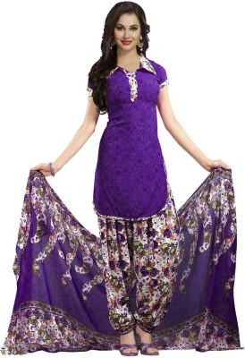 Ishin Synthetic Printed Salwar Suit Dupatta Material