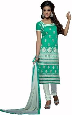 Diva Divine Chanderi Embroidered Salwar Suit Dupatta Material