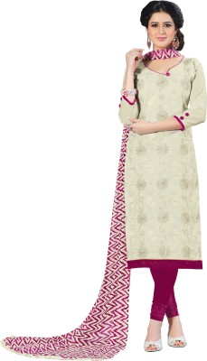 Melluha Cotton Embroidered Salwar Suit Dupatta Material