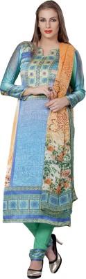 Vishal Prints Satin, Crepe Self Design Salwar Suit Dupatta Material