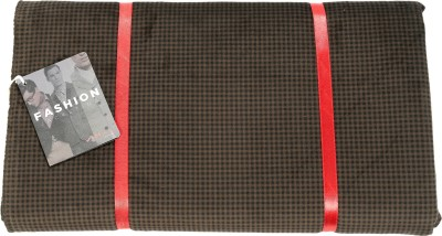 Vimal Polyester Checkered Jacket Fabric(Un-stitched)