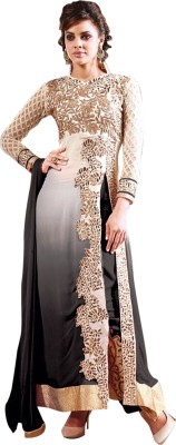 Fabiola Trendz Georgette Embroidered Semi-stitched Salwar Suit Dupatta Material