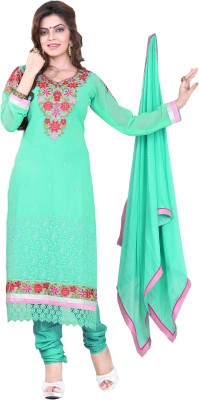 SILVERMOON Georgette Embroidered Dress/Top Material