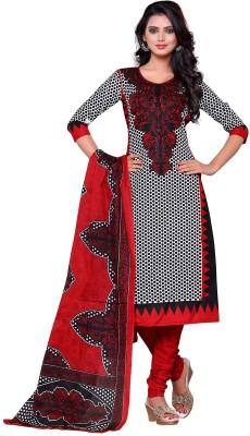 Aasvaa Cotton Embroidered Salwar Suit Dupatta Material