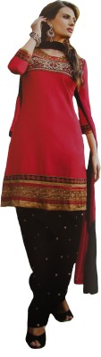 Sivaanta Cotton, Chiffon Embroidered, Embellished Salwar Suit Dupatta Material