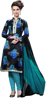 Desi Look Cotton Printed Semi-stitched Salwar Suit Dupatta Material