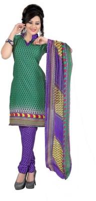 Reveka Fashion Crepe Printed Salwar Suit Dupatta Material