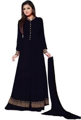 Sitaram Georgette Self Design Semi-stitched Lehenga Kurta Material, Semi-stitched Salwar Suit Dupatta Material, Semi-stitched Gown & Salwar Material