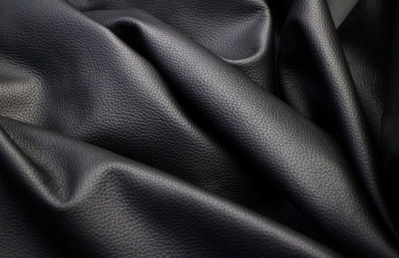 Tanned Hides Leather Solid Jacket Fabric(Un-stitched)