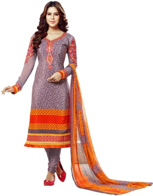 Bhelpuri Crepe Embroidered, Printed Dress/Top Material