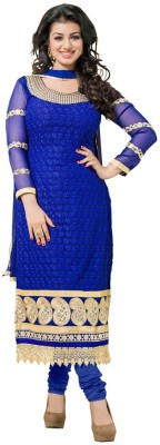 3G9 Shop Georgette Self Design, Embroidered Salwar Suit Dupatta Material