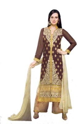 Unique Creation Georgette Printed Semi-stitched Salwar Suit Dupatta Material