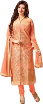 Justchic Chanderi Embroidered Salwar Suit Dupatta Material