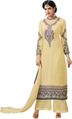 Fabfiza Jacquard Embroidered Semi-stitched Salwar Suit Dupatta Material