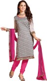 Kvsfab Chanderi Printed Salwar Suit Dupa...