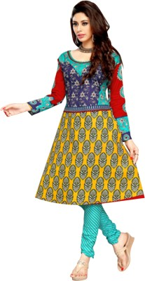 Parishi Fashion Cotton Printed Dress/Top Material