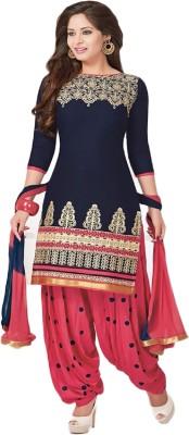 Shahlon Cotton Embroidered Salwar Suit Dupatta Material