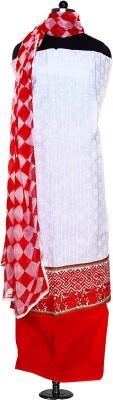Kolkata Fashions Cotton Self Design Salwar Suit Dupatta Material
