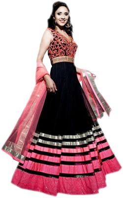 Fabfirki Net Printed Salwar Suit Dupatta Material