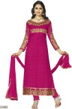 Reya Georgette Embroidered Semi-stitched...