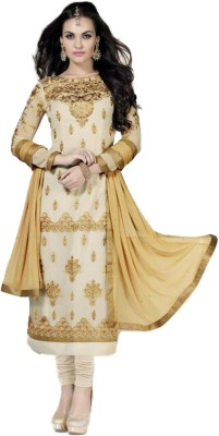 Chic-Designs Cotton Embroidered Salwar Suit Dupatta Material