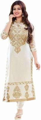 Uttam Vastra Cotton Embroidered Semi-stitched Salwar Suit Dupatta Material