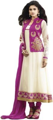Hypnotex Georgette Self Design Salwar Suit Dupatta Material(Un-stitched) at flipkart