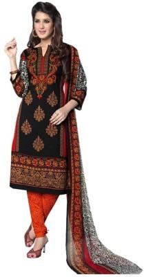 Pooja Crepe Printed Salwar Suit Dupatta Material
