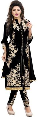 Nena Georgette Self Design Semi-stitched Salwar Suit Dupatta Material
