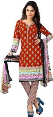 Deekay cloth house Crepe Printed Salwar Suit Dupatta Material
