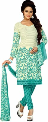 Lizafab Crepe Printed Salwar Suit Dupatta Material